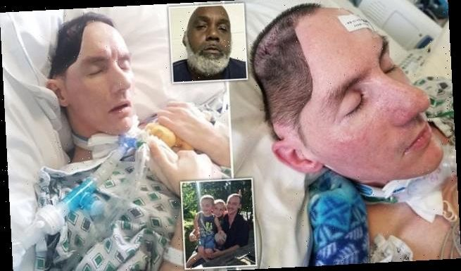 Father-of-two is left with half a skull after 'one-punch' assault