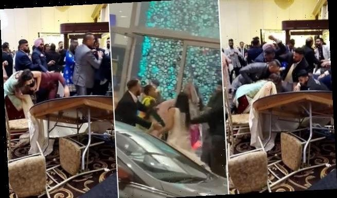 Mass fight erupts at wedding with guests left covered in blood