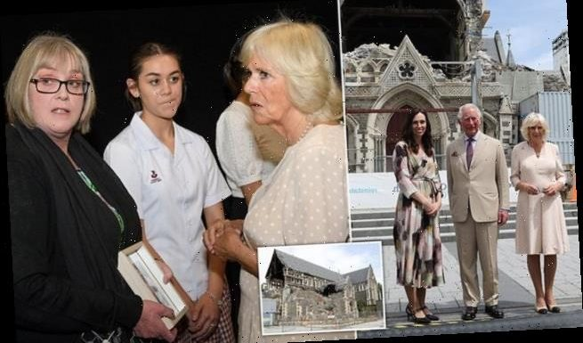 Prince Charles and Camilla visit Christchurch Cathedral in New Zealand