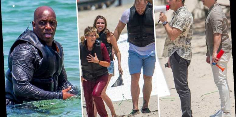 I'm A Celeb stars plunge into the sea while Ant and Dec shout at them through a megaphone as filming begins in Australia – The Sun