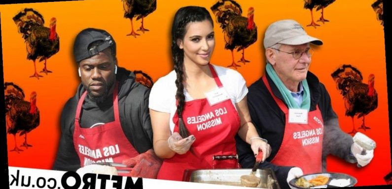 Thanksgiving: What really happens when celebs hand out turkeys