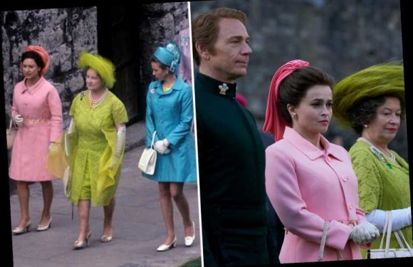 The Crown season 3 filming pics reveal stunningly lifelike royal outfits as cast completely transform