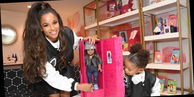 Ciara Brings Daughter Sienna To American Girl Holiday Window Reveal Party!