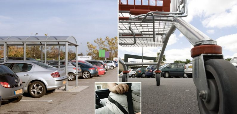 Supermarkets urged to widen parking spaces for fat drivers as Brit obesity rises