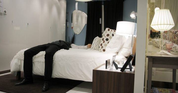 Wanted Swedish man caught sleeping in Ikea's bed department overnight