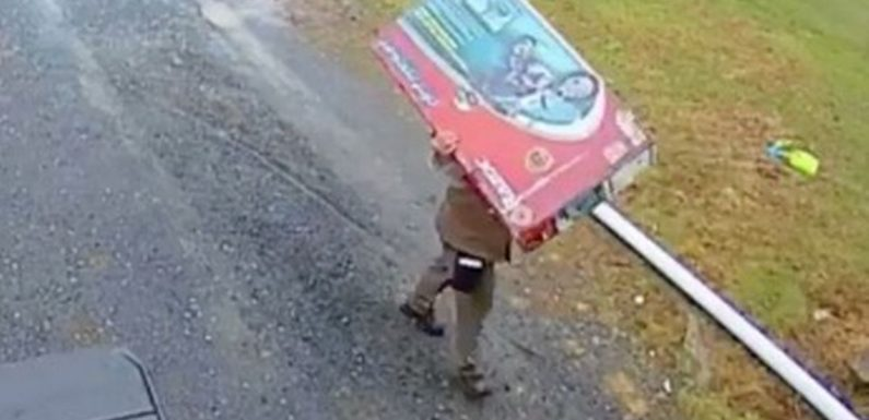 UPS driver 'saves Christmas' by carefully hiding kid's surprise present