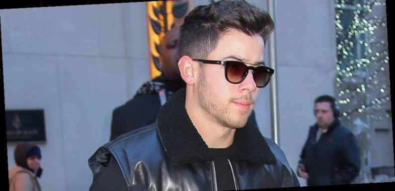 Nick Jonas Braves The Cold For Business Meeting in NYC