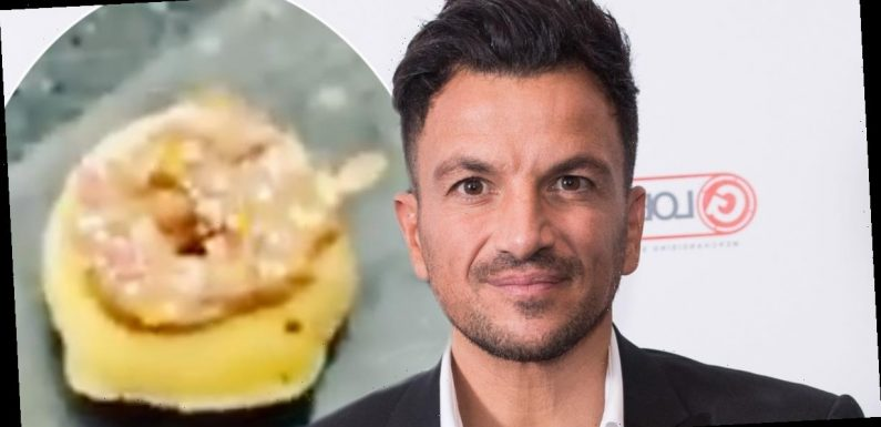 Peter Andre shares hilarious baking fail as he ends up with 'pea-sized' doughnut