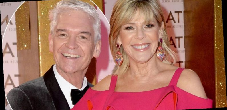 NTAs 2020: Phillip Schofield and Ruth Langsford put aside feud rumours as they share a kiss