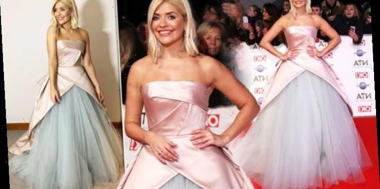 Holly Willoughy wears bespoke gown and earrings worth whopping £20,000 to NTAs 2020