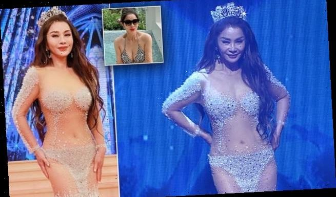 Taiwanese actress, 63, shows off toned body in £15K see-through dress