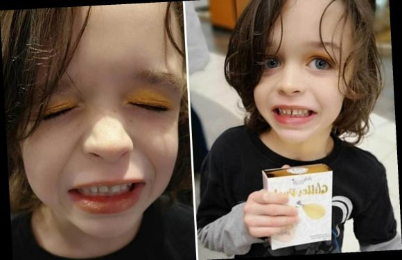 Mum sparks debate after stranger buys her son, 5, gold eyeshadow to encourage him to 'do what he loves'
