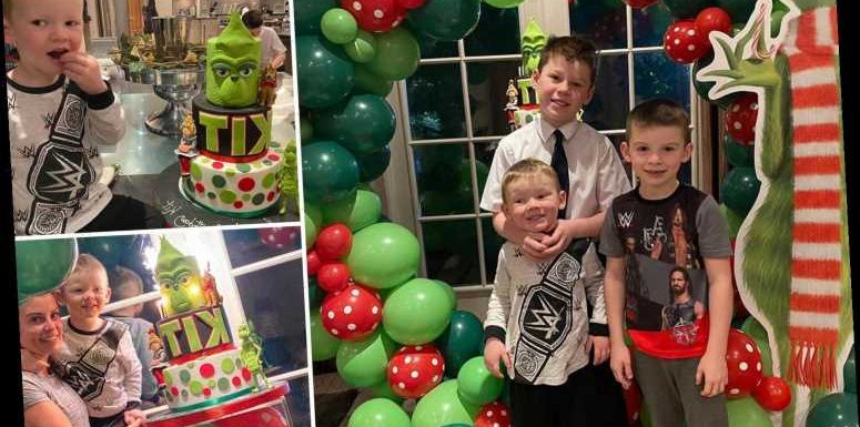Inside Coleen and Wayne Rooney's Grinch-themed birthday party for son Kit with amazing cake and balloon arch – The Sun