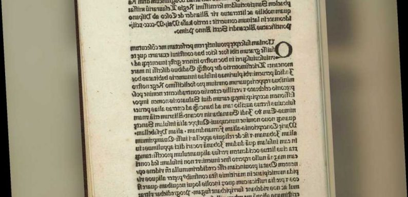 Agents recover stolen 500-year-old copy of Columbus letter