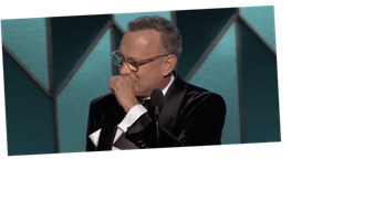 Everyone Was Crying During Tom Hanks's Golden Globes Speech, Including Tom Hanks