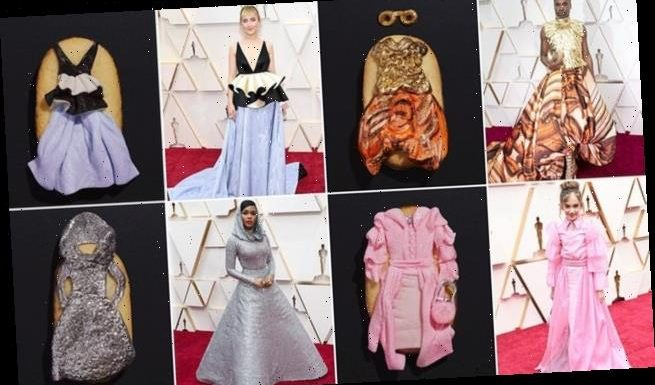 Pepperidge Farm makes COOKIE versions of the Oscar outfits on Milanos