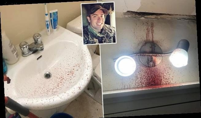 Blood pours through man's ceiling after neighbor collapses and dies