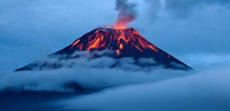 Scientists discover 'throat of fire' volcano just years away from collapse