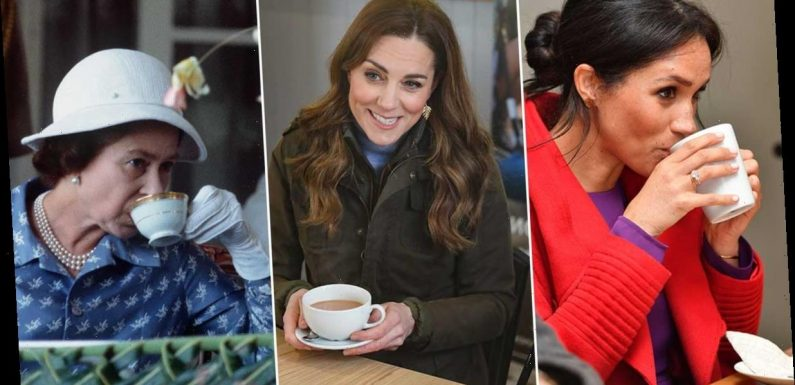 Best photos of the British royal family drinking tea, including Meghan Markle, Kate Middleton and the Queen