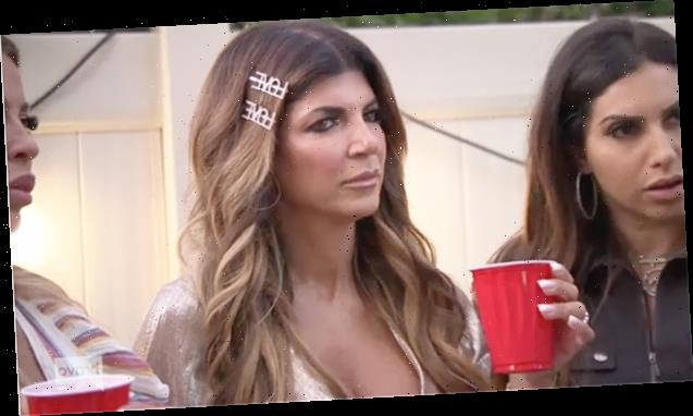 'RHONJ': Teresa Giudice Throws Her Drink & Flips Off The Camera In Dramatic Season Finale Preview