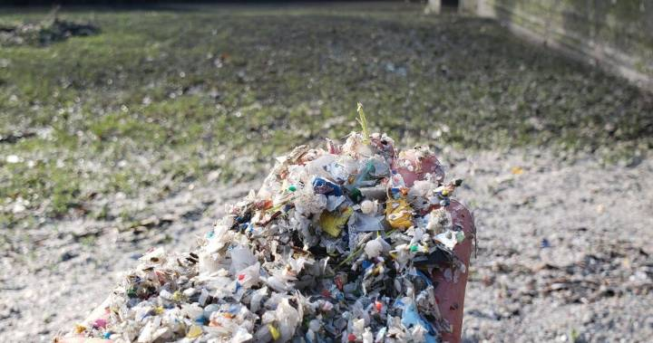 City of Delta cleaning up plastic waste on banks of waterway, says 'responsible party' will pay