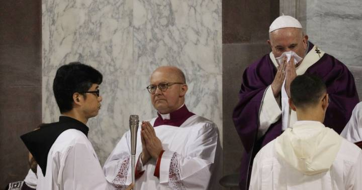 Pope skips planned mass with Rome priests due to 'slight' illness