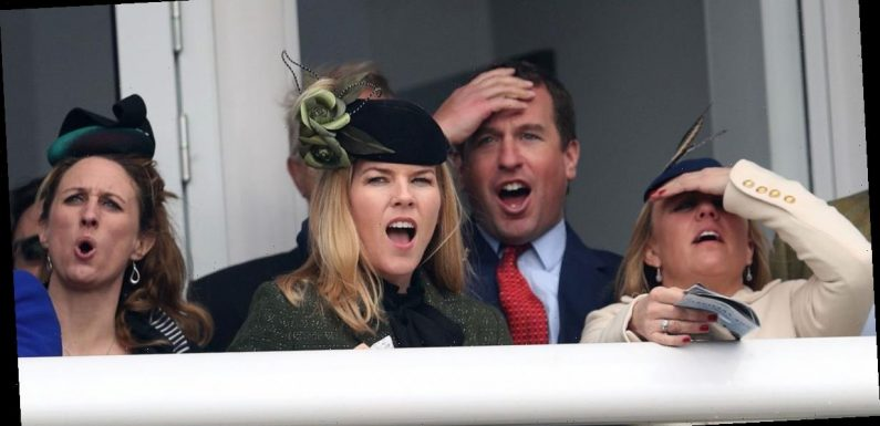 Queen's grandson beams at races with wife weeks after announcing divorce