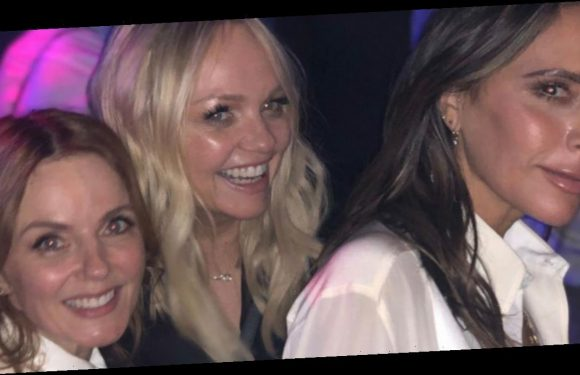 Victoria Beckham hosts mini Spice Girls reunion as Emma Bunton and Geri Horner attend Brooklyn's 21st birthday party