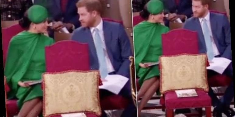 What did Harry really say to Meghan in the church? Duke whispered this to wife expert says