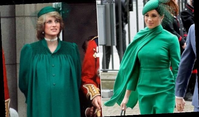 Meghan Markle paid tribute to Princess Diana in  identical ensemble