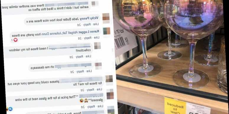 Tesco is selling iridescent wine glasses for just 88p – down from £3.50