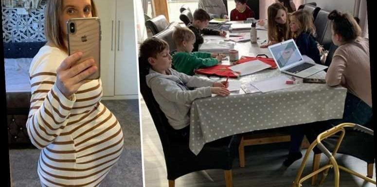 Pregnant mum-of-21 Sue Radford shares snap of her homeschooling station for NINE of her kids