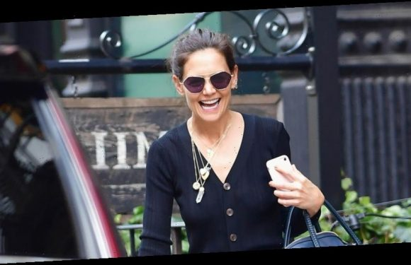 Katie Holmes Is All Smiles Grabbing Lunch in New York City