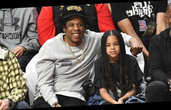 JAY-Z and Blue Ivy Have Adorable Father-Daughter Date at Lakers Game