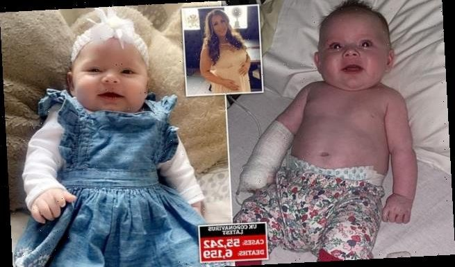 Mother's pain: 12-week-old baby is one of UK's youngest Covid-19 cases