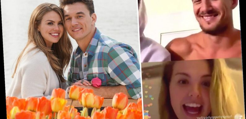 Hannah Brown makes a dig at her ex Tyler Cameron coming second on The Bachelorette during cheeky Instagram Live – The Sun