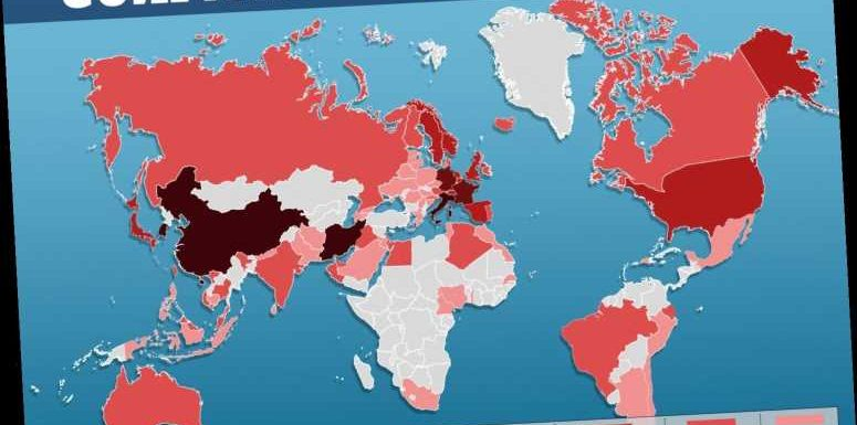 Coronavirus worldwide map: confirmed deaths and cases country by country – The Sun