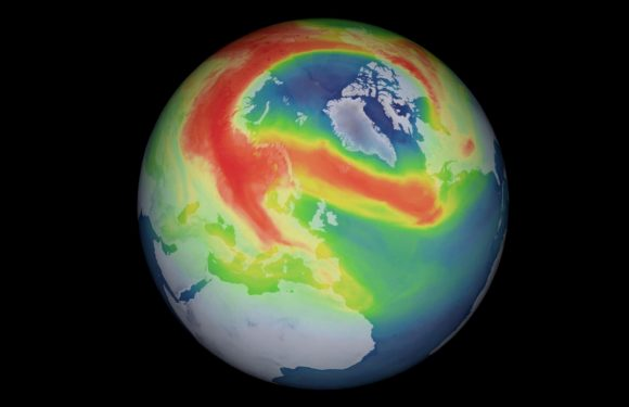 Gigantic hole opens in ozone layer over the Arctic