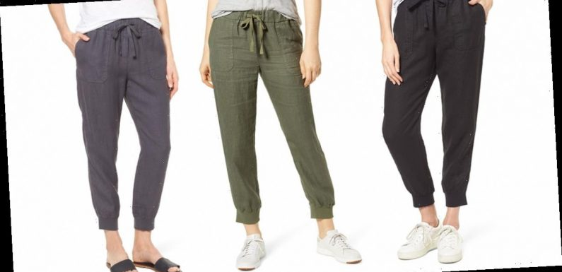 These Popular Lightweight Linen Joggers Are Only $30 at Nordstrom Right Now