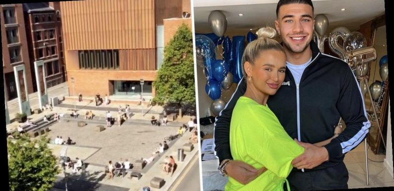 Molly-Mae Hague and Tommy Fury slam people breaking lockdown rules outside their Manchester pad