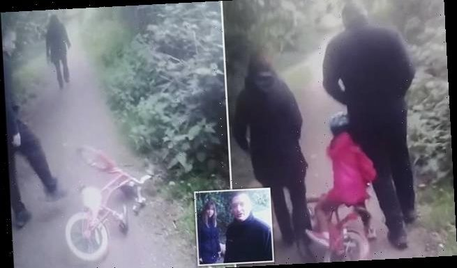 Six-year-old girl is knocked off her bike when couple refuse to move