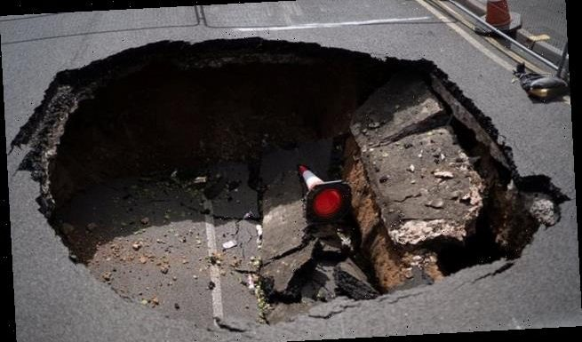 20ft sinkhole swallows up Walsall street after sewer collapses