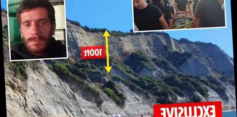 Serial rapist dubbed Beast of Kavos falls 100ft off cliff and suffers multiple injuries while fleeing police – The Sun
