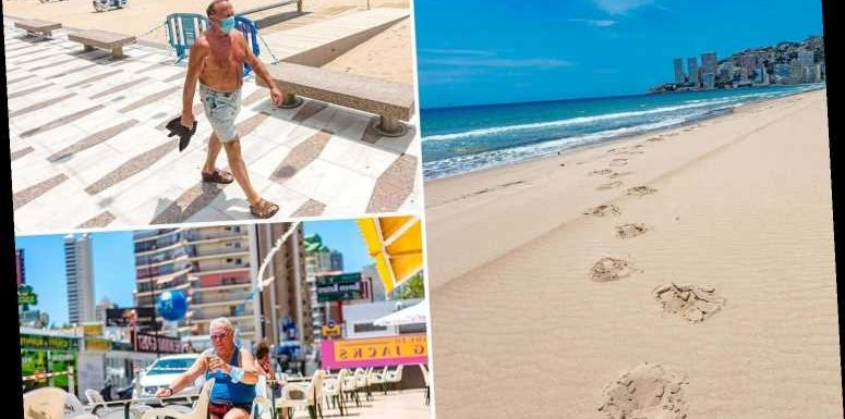 Misery for sun-seeking Brits in Benidorm as they're ordered off beaches by lunchtime as part of social distancing rules – The Sun