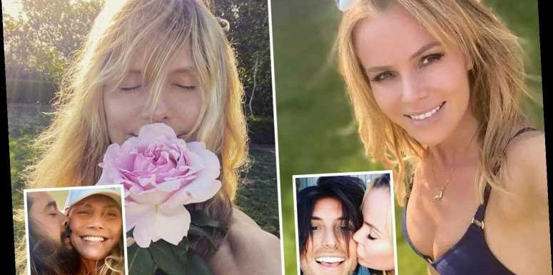 Heidi Klum vs Amanda Holden – From barely-there bikini pics to loved up selfies…Who is the Queen of Quarantine?