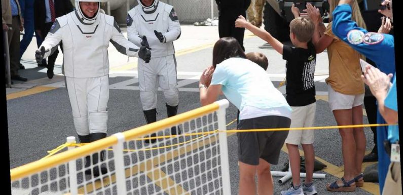'Best Friend' Astronauts Say Goodbye to Their Wives and Children Before Historic SpaceX-NASA Launch