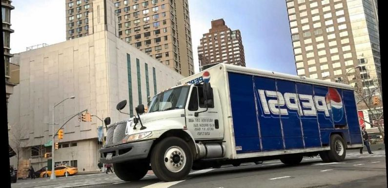MTA vehicle slams into parked Pepsi truck near Times Square