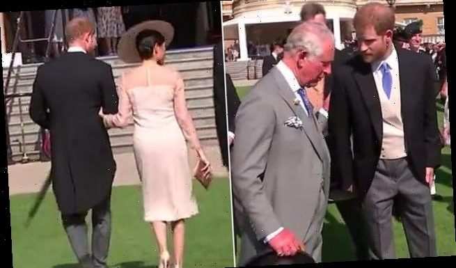 Video shows Meghan Markle and Harry leaving party seconds Charles