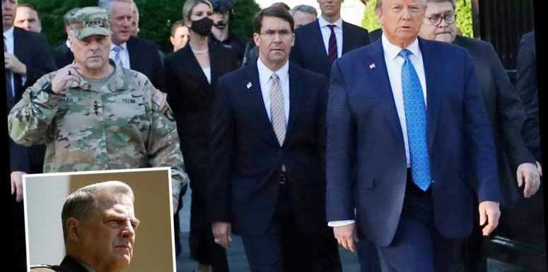 Gen Mark Milley, chairman of the Joint Chiefs of Staff, says SORRY for photographed walk with Trump to vandalized church – The Sun