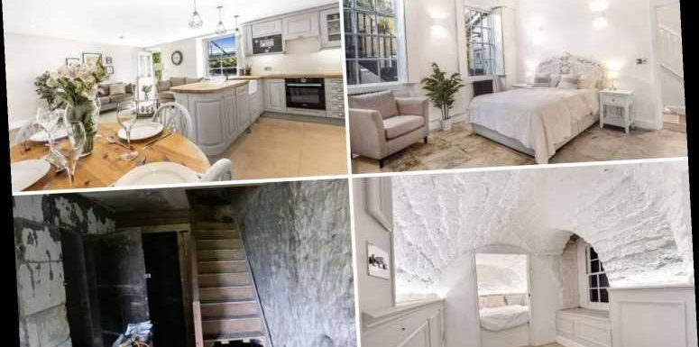 DIY whizz spends three years transforming his grotty 'dungeon-like' apartment into a stunning home worth £475K